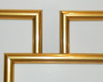 "Set of 3 Gold 5 x 7"" Picture Frames  - SALE"