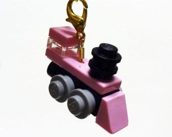 Pink Mini Train Engin Keychain