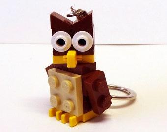 Mini Brown Owl Key chain