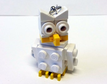 Mini White Owl Key chain