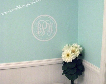 Circle and Dots Monogram Vinyl  Decal