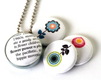 Flower Power Magnetic Necklace -  Eco Friendly, Steel, Mini, Long Chain, Floral, Clean, Modern, Necklace, Jewelry, Recycled by Polarity