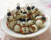 Christmas Snowman Glow in the Dark Charms - 8pcs