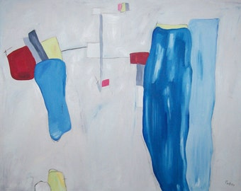 Abstract Painting Large 35 x 44 Contemporary Modern