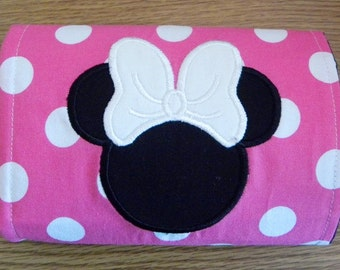 Minnie Mouse Coloring Wallet - Mickey Mouse Crayon Wallet - Crayon Holder - Art Wallet - Marker Wallet - Made To Order - Party Favor