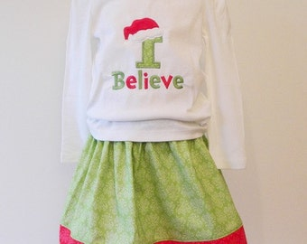 I Believe Applique Shirt - Made to Order - Believe Holiday Shirt