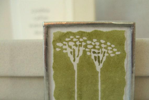 original watercolor flowers brooch