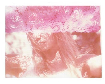 Girl in Pink Photography Polaroid Lace California Vintage Art 11x14 Print