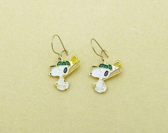 Aviva Vintage Snoopy Baseball Earrings with Woodstock 0004