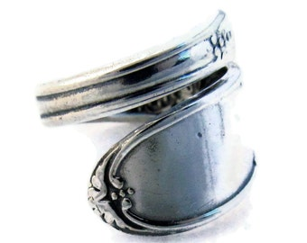 Spoon Ring Champagne Wrapped Demitasse Sizes 5 - 8