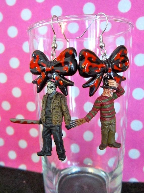 Freddy Vs. Jason Figurine earrings