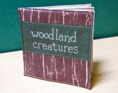 ON SALE Woodland Creatures Cloth Book, printed on organic cotton