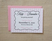Scroll and Polka Dots Save the Date Cards