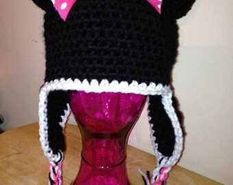 Toddler Crochet Mouse Hat  Made to order