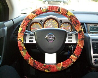 SALE Fall Leaf Steering Wheel Cover