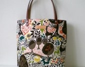 Mini tote bag, Animal in the forest