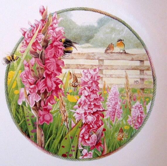 Hallmark Marjolein Bastin Serving Bowl Wildflower Meadow