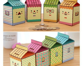 Easy DIY Set of 4 Mini Storing Coin Boxes (P175)
