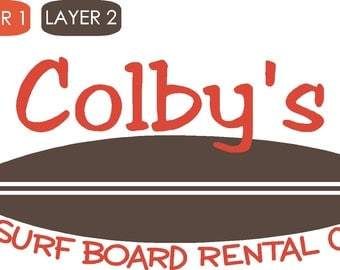 Personalized Surf Board Rental Vinyl Wall Decor Item KC88
