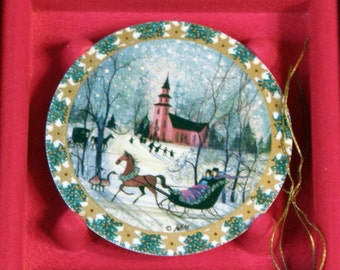 P Buckley Moss  Anna Perenna Christmas Ornaments Sleighride EXCLUDED From all Coupon Codes