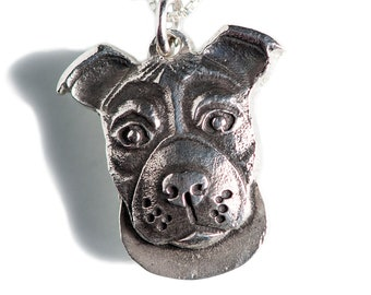 Pit Bull Necklace Jewelry Sterling Silver Dog Pendant Personalized