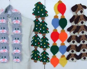Crochet Pattern Cat - Dog Scarves - Digital Download