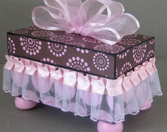 Pretty in Pink and Brown Keepsake Box