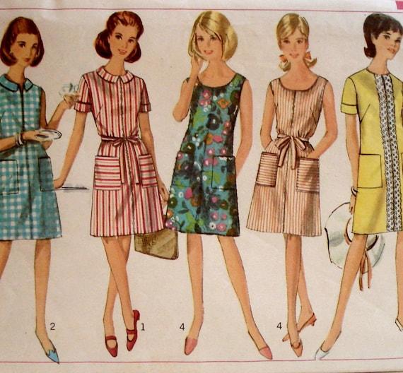 Vintage 1960s Shift Dress Pattern Simplicity 7025 Bust 34