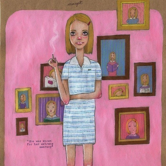 Margot Tenenbaum / 5 x 7 Illustration Print