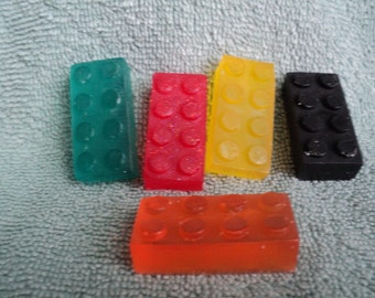 Mini Building Block Soap - Party Favors, Kids Soaps, Birthday Gift, Construction, Toy Soaps