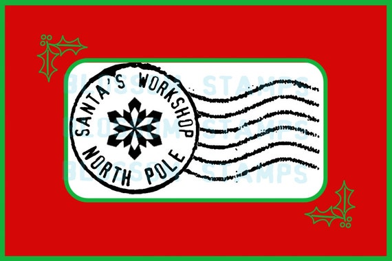 Christmas North Pole Letter Postmark Cancellation Mark Rubber Stamp ...