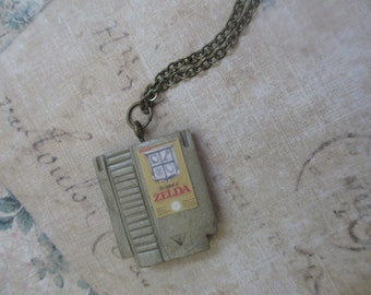 The Legend of Zelda Nes cartridge necklace
