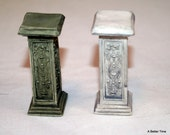 Miniature Grecian Greek pedestal statues for doll houses