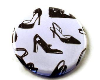 Pocket Mirror, Makeup Mirror, Cosmetic Mirror  in  High Heels  (PM79)