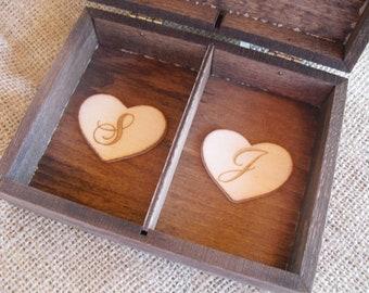 Wedding Ring Box Rustic  - Unique Ring Bearer Pillow Alternative - Item 1447
