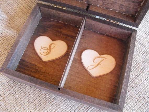 wedding ring box rustic unique ring by dazzlingexpressions