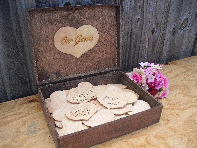 Wedding Guestbook Alternative Rustic Wood By