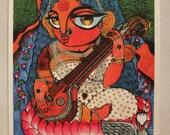 Maa Saraswati Goddess of Knowledge PRINT