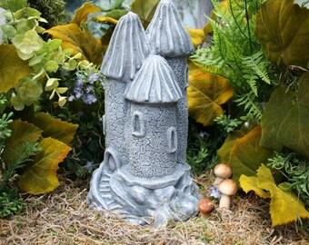 Fairy Garden Castle Statue - Outdoor Garden Decor - Concrete Art