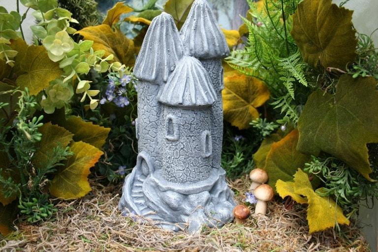 Fairy Garden Castle Statue Outdoor Garden Decor Concrete