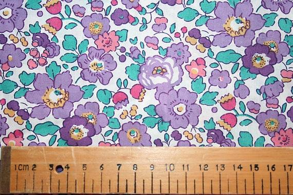 Liberty Tana Lawn BETSY plum fabric 0.25m