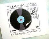 Wedding DJ Thank You Card