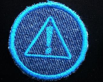 Science Warning Symbol Iron-on Patch / Merit Badge