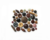 Wood And Leather Vintage Buttons No. 2