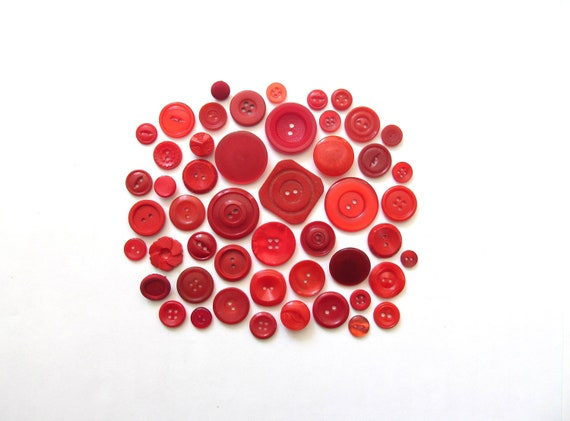 Red Delicious Vintage Buttons