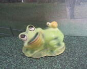 Josef Original Frog with Snail on the Back Figurine