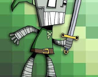 Robot Link Art Illustration Print Nintendo Legend of Zelda
