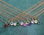 14k Gold Vermeil Birthstone Necklace