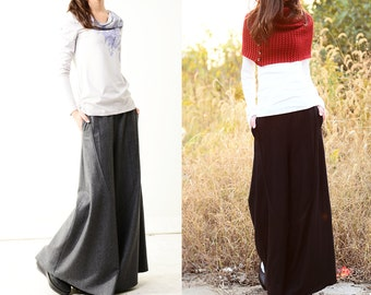 Moon forgot - woolen skirt pants (K1206)