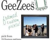 Photo Words Print Art, vows,lyrics Anniversary Wedding Art Framed Matted Photo print 20X24